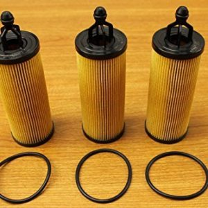 Chrysler Jeep Dodge RAM 3.2L 3.6L V6 Pentastar Oil Filter Set of 3 Mopar