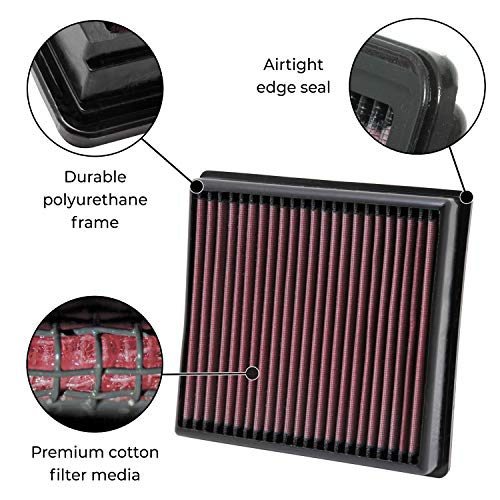 K&N 33-2454 High Performance Replacement Air Filter For
