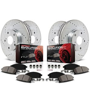 Power Stop K5754 Front and Rear Z23 Evolution Brake Kit with Drilled/Slotted Rotors and Ceramic Brake Pads