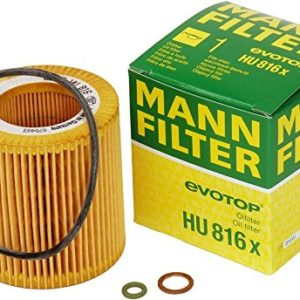 Mann-Filter HU 816 X Metal-Free Oil Filter (Pack of 3)