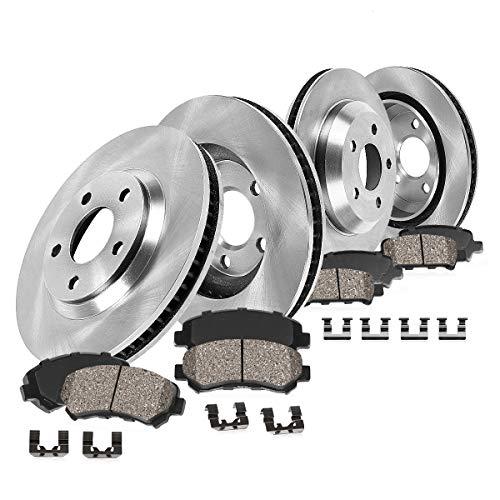 Callahan CRK02100 FRONT + REAR Brake Rotors + Ceramic Pads + Hardware [ Infiniti JX35 QX60 Nissan Murano Pathfinder ]
