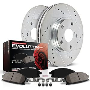 Power Stop K2427 Rear Z23 Evolution Brake Kit with Drilled/Slotted Rotors and Ceramic Brake Pads