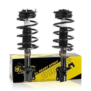 OREDY Front Pair Complete Quick Struts Shock Coil Spring Assembly Kit 172378 172379 9214-0277 9214-0278 11454 11453 compatible with 2007 2008 2009 2010 2011 2012 Nissan Sentra