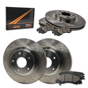 Max Brakes OE Series Rotors w/Ceramic Brake Pads Front + Rear Premium Brake Kit KT151343 [Fits:2009-2011 Audi A4  2008-2011 A5]