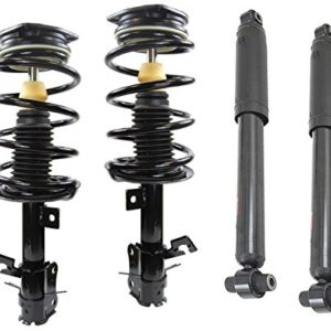 DTA 70143 Full Set 4 Complete Strut Assemblies With Springs and Mounts Ready to Install OE Replacement 4-pc Set Fit 2007-2012 Nissan Sentra 2.0L Only, Excludes SE-R Models