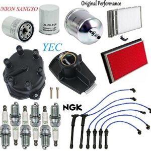 Tune Up Kit Wires Spark Plugs Filters for Nissan Frontier V6; 3.3L 2000-2004
