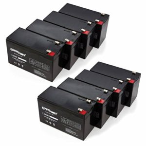 "ExpertPower 12v 9ah Sealed Lead Acid Battery with F2 Terminals (.250"") / 8 Pack"