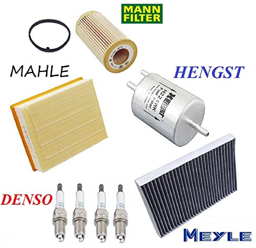 Tune Up Kit Cabin Air Fuel Filters Spark Plugs for Audi A4 2.0L 2005-2008