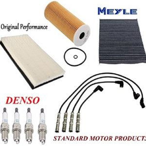 Tune Up Kit Air Cabin Filter Spark Plugs Wires for Volkswagen Golf 2001-2006Tune Up Kit Air Cabin Filter Spark Plugs Wires for Volkswagen Golf 2001-2006
