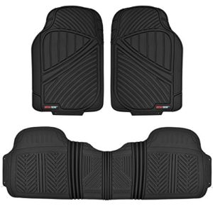 Motor Trend MT-773-BK FlexTough Baseline-Heavy Duty Rubber Floor Mats