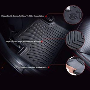 COOLSHARK Ford Edge Front Floor Mats, Waterproof Floor Liner Custom
