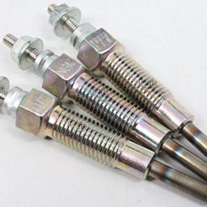Kawasaki Mule 2510 3010 4010 Diesel 2000-2013 3 Glow Plugs 49036-0001