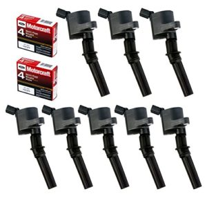 MAS Set of 8 Ignition Coil DG508 & Motorcraft Spark Plug SP493