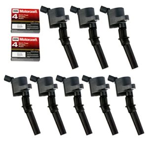 MAS 8 pack Ignition Coil DG508 & Motorcraft Spark Plug SP479