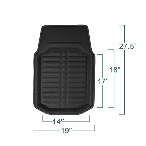 Fh Group Tray Style Car Mats Deep Tray All Weather Floor