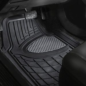 FH Group F11311GRAYBLACK Rubber Floor Mat (Heavy Duty Tall Channel)