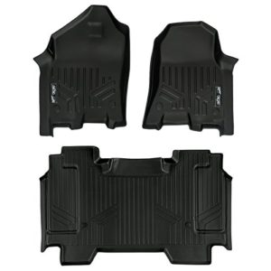 SMARTLINER Floor Mats 2 Row Liner Set Black for 2019 Ram 1500 Crew Cab