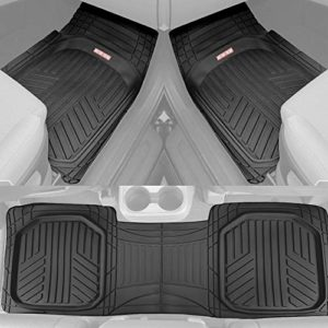 Motor Trend OF-933-BK Deep Dish Rubber Floor Mats All-Climate All Weather