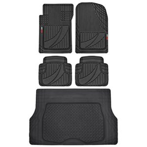 FlexTough Advanced Performance Liners - 5pc HD Rubber Floor Mats & Cargo Liner