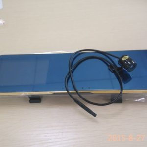 Rear Mirror Dual Camera Anti-dazzling Gold Multi-language G-sensor Motion Detection