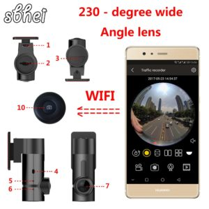 mini WiFi Car DVR 1080P 230 degree Night Vision Dash Cam