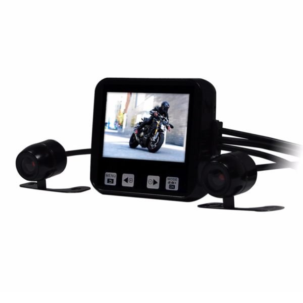 "Motorcycle DVR 2.0"" Touch Key Full HD 720P Waterproof Dual Cameras"