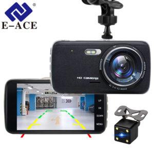 E-ACE Car DVR Camera Dashcam Dual Lens With LDWS