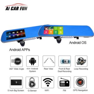 "5.0"" Touch Screen 1080P HD Universal Car Rear view Mirror"