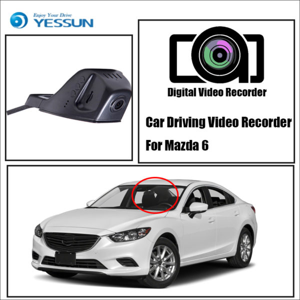 Dash Cam Video Recorder Original Style Black Box, For Mazda 6