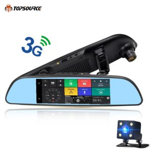 PS Car DVR Mirror Camera Dual Lens 1080P