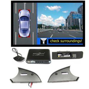360 Degree bird View Car DVR Record with 4HD car rear backup