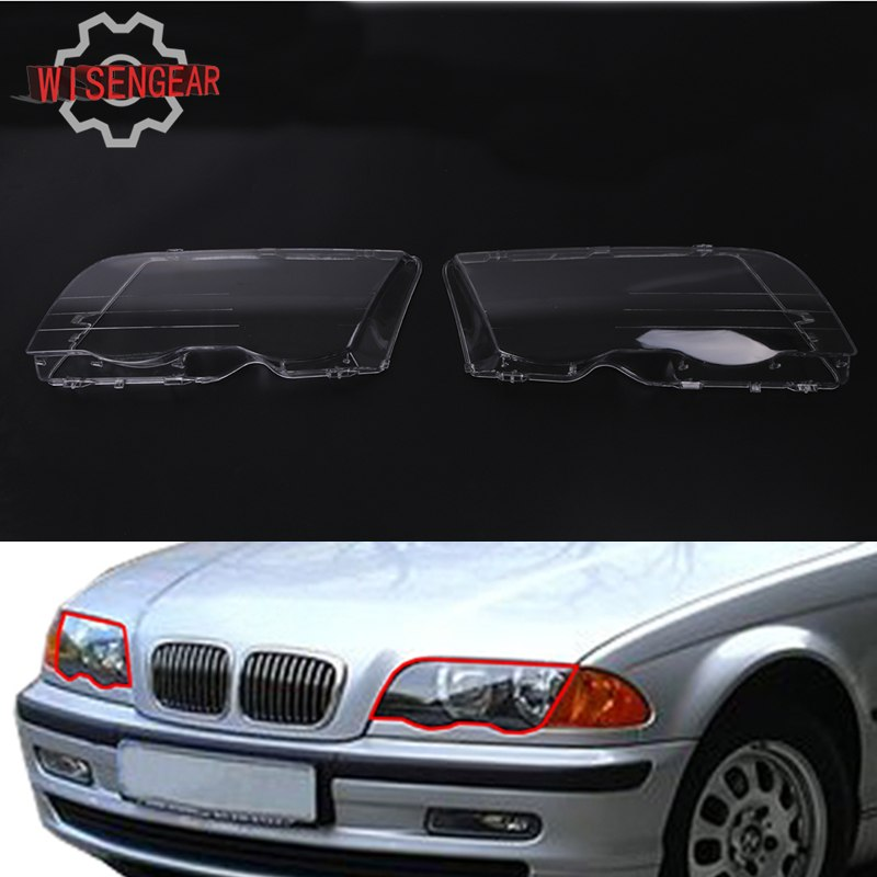 2x Headlight Lens Headlamp Cover For BMW E46 3 Series Best