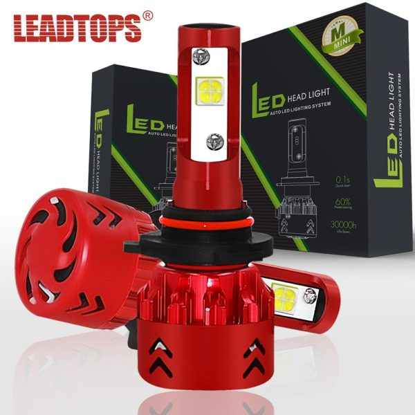LEADTOPS 9005 LED Car Headlight H1 H4 H7 H11 9006 Headlight Bulb