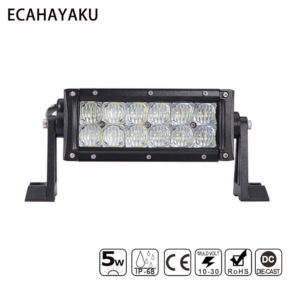 7INCH DUAL 60W LED LIGHT BAR 5D 5W CHIP SPOT FLOOD