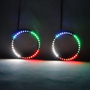 Angel Eyes Revolving Lights DRL LED Rolling Light Multi-Color Wireless