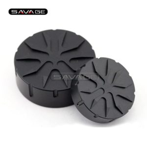 For BMW Black Brake Clutch Cylinder Fluid Reservoir Cover Cap Motorcycle