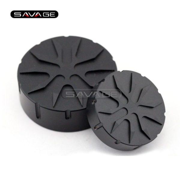 For BMW Black Brake Clutch Cylinder Fluid Reservoir Cover Cap Motorcycle