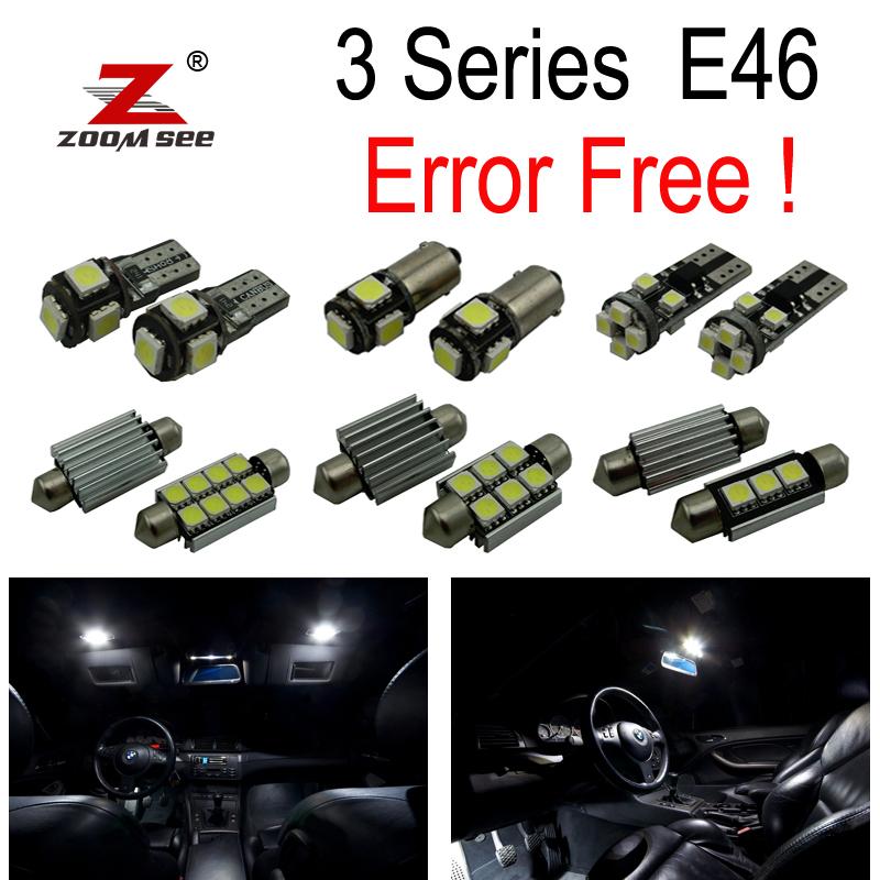 LED Bulb Interior Lights Full Kit For Bmw E46 Sedan Saloon