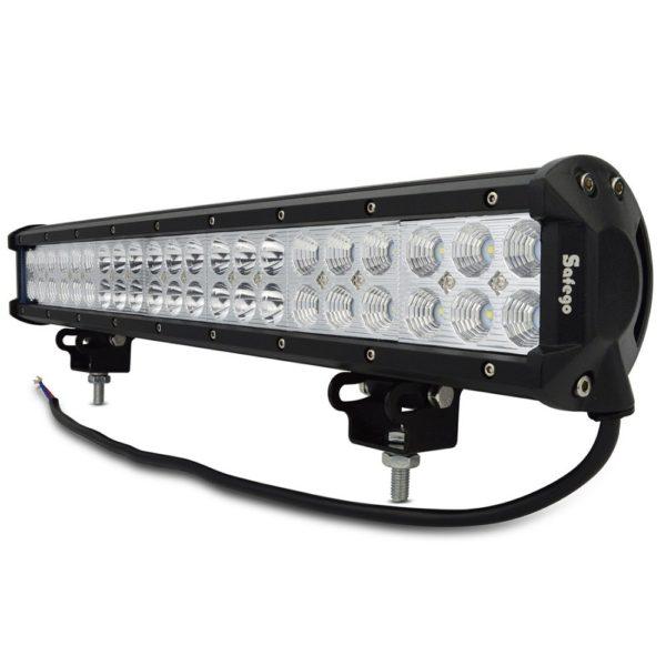 Safego 20'' inch led light bar 126w work light for off road