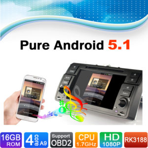 16 GB Flash, 4 Core, Pure Android 5.1 for BMW 3 Series E46 Navigation