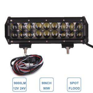 90W Offroad LED Light Bar 9'' 12V 24V Car Auto Pickup