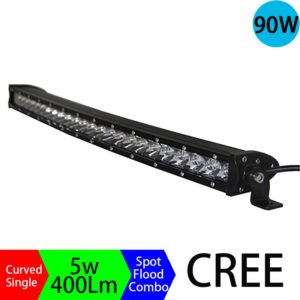 90W led bar 4x4 High Power Long Distance Super Slim Single Row Curved