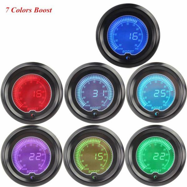 Digital Clocks Colors LED Light Boost Meter