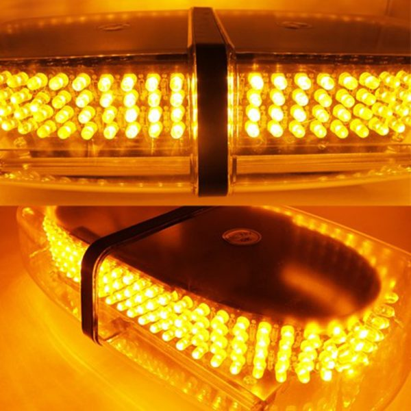 240 LED Oval 12V Roof Top Emergency Hazard Warning