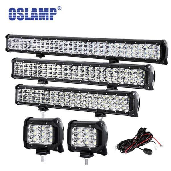 """Oslamp 4"""" 20"""" 23"""" 28"""" 12"""" 31"""" LED Work Light for Boat SUV ATV Pickup"""