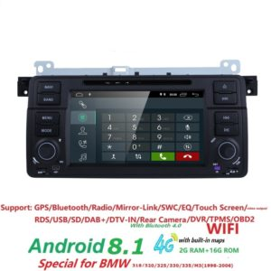 Android 8.1 Quad core HD 1024*600 screen 2 DIN Car DVD GPS Radio stereo