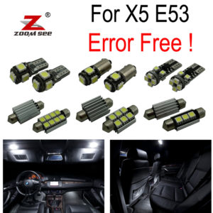 Interior Dome Light full Kit for BMW X5 E53 3.0i 4.4i 4.6is 4.8is (2000-2006)