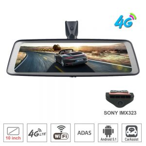 """zuczug 10"""" Full Touch IPS Special 4G Car DVR Camera Android Mirror GPS Bluetooth WIFI ADAS remote monitor Dual Lens Dash Cam"""