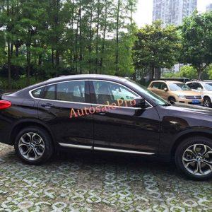 For BMW X4 2014 2015 Steel Top+Bottom Full Window Sill Trims New