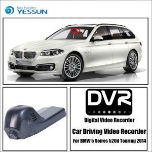 YESSUN Driving Recorder Car Wifi Dvr Mini Camera for BMW 5 Seires 520d Touring 2014 Car Dash Cam Video Recorder